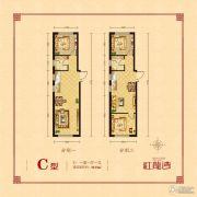 红龙湾1室1厅1卫73平方米户型图