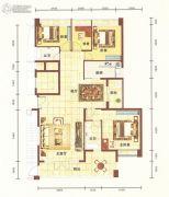平安里3室2厅2卫166平方米户型图