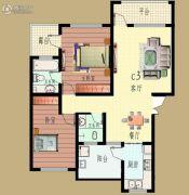 华跃・梨花溪住宅小区2室2厅2卫140平方米户型图