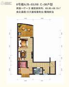 东方龙湾2室1厅1卫0平方米户型图