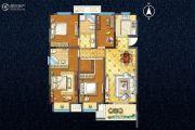 宇业天逸华庭4室2厅2卫130平方米户型图