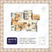 书香华庭4室2厅2卫157平方米户型图