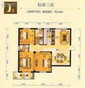 金州星城3室2厅2卫119平方米户型图