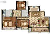 康桥香溪郡3室2厅2卫143平方米户型图