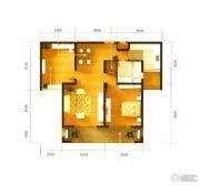 华仁凤凰城2室2厅1卫100平方米户型图