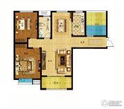 君河湾2室2厅1卫122平方米户型图