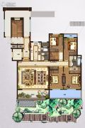 鸿园4室2厅2卫164平方米户型图