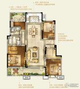 卓越皇后道千山外4室2厅2卫143平方米户型图
