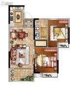 富力金禧悦城2室2厅1卫0平方米户型图