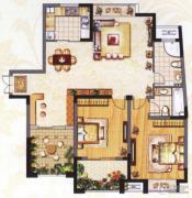 阳光龙庭2室2厅2卫122平方米户型图