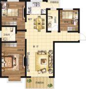 淞江国际花园3室2厅1卫0平方米户型图