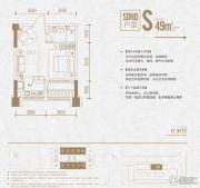 复地海上海1室1厅1卫49平方米户型图