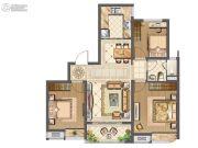 中海九玺3室2厅1卫98平方米户型图