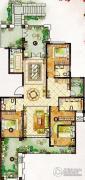 龙湖龙誉城3室2厅3卫173平方米户型图