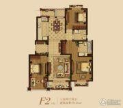 星叶羊山湖花园3室2厅2卫126平方米户型图