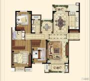 中海凤凰熙岸・玺荟3室2厅2卫150平方米户型图