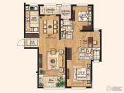 仁恒西郊花园3室2厅2卫0平方米户型图