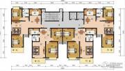 申鑫名城2室2厅1卫93平方米户型图