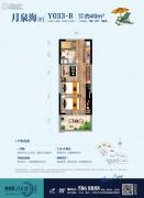 碧桂园・月亮湾一期1室2厅1卫48--49平方米户型图