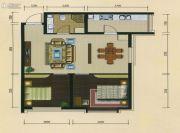 十三街区2室2厅1卫78平方米户型图