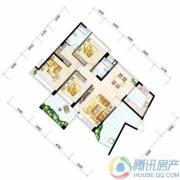 雅居乐十里花巷3室2厅2卫124平方米户型图