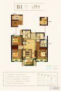 永晖・壹号院3室2厅2卫88平方米户型图