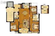 澜湖郡3室2厅1卫109平方米户型图