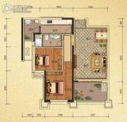 天隆三千海2室2厅1卫75平方米户型图