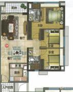 万科东荟城3室2厅2卫0平方米户型图