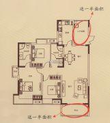 蓝湾新城3室2厅2卫139平方米户型图