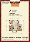 天下・城市星座二期3室2厅2卫118平方米户型图