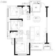 合能枫丹丽舍3室2厅2卫102平方米户型图