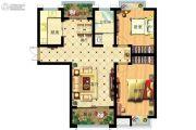 家天下2室2厅1卫103平方米户型图