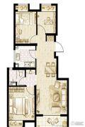 万科金域南桥3室2厅1卫84平方米户型图