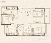 融创御园3室2厅2卫99平方米户型图