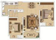 枫林天下・康城2室2厅1卫92平方米户型图