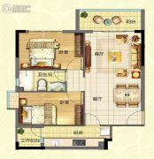 宏康小筑2室2厅1卫0平方米户型图