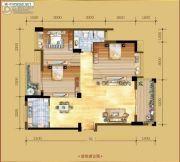 香岸华府二期3室2厅1卫113平方米户型图