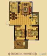 金鼎名府2室2厅1卫100平方米户型图