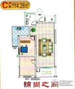 龙佳大厦2室2厅1卫114平方米户型图