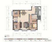 医大广场3室2厅2卫125平方米户型图