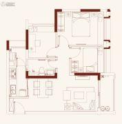保利红馆3室2厅1卫70平方米户型图