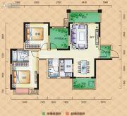 梅溪峰汇3室2厅2卫105平方米户型图