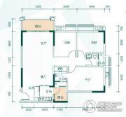 鸿业畔湖居3室2厅2卫0平方米户型图