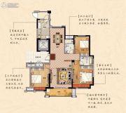 鹏欣瑞都 高层3室2厅2卫142平方米户型图