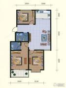 中和金佰3室2厅2卫107--108平方米户型图