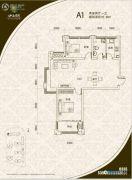 山海景湾2室2厅1卫90平方米户型图
