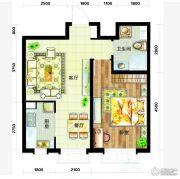 天庆国际新城1室1厅1卫65平方米户型图