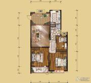 山水华庭3室2厅1卫98平方米户型图