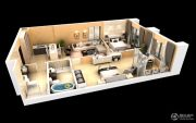 雅居乐・星河湾3室2厅2卫125平方米户型图